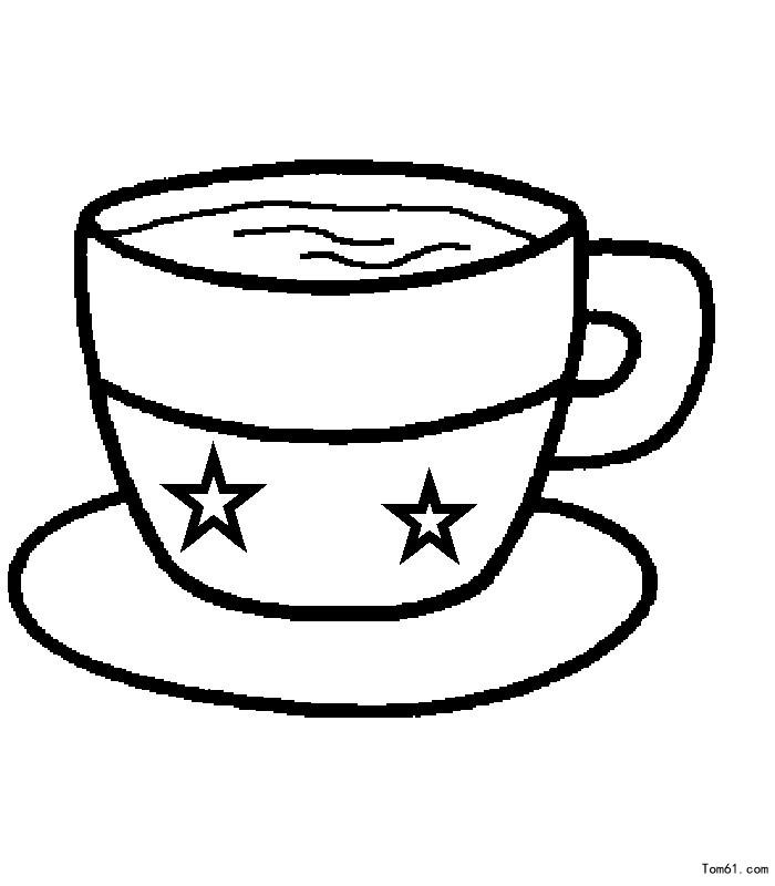 杯子 简笔画图片 儿童资源网手机版